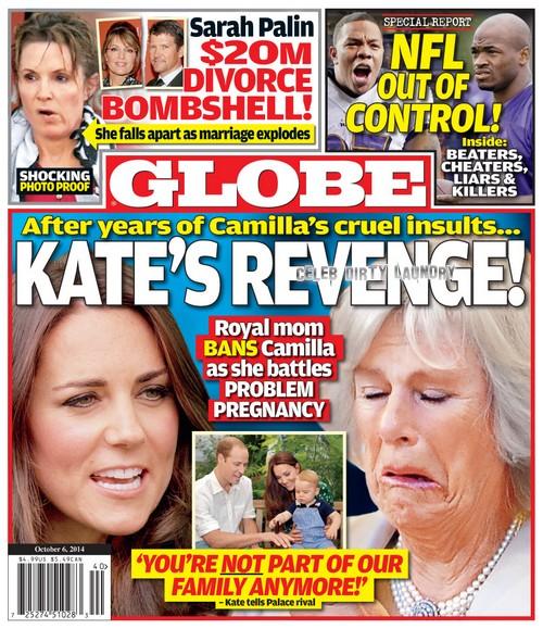 GLOBE: Pregnant Kate Middleton's Revenge on Camilla Parker-Bowles - Bans Cruel Mother-in-Law During Problem Pregnancy (PHOTO)