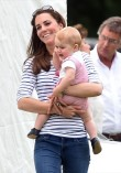 Kate Middleton and Prince George Cheer On Prince William (Photo)