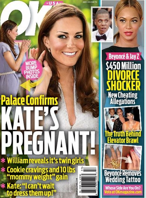 Kate Middleton Pregnant With Twin Girls? - Palace Confirms Pregnancy - Report
