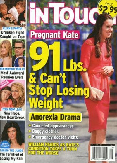 Pregnant Kate Middleton: 91 Pound Anorexic - Prince William Fears Princess Can't Stop Losing Weight - Report (PHOTO)