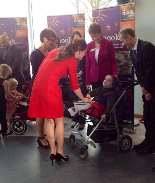Kate Middleton Shows Baby Bump at Children's Hospice Wearing Red Dress - Kate Will Reveal Weight Gain In NYC (PHOTOS)