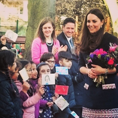 Kate Middleton Looks Dowdy and Aged Showing Baby Bump at School Event (PHOTOS)
