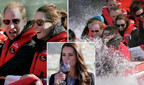 Kate Middleton NOT Pregnant - Prince William Hints At Second Pregnancy But Kate Sips Wine and Takes High Speed River Ride! (PHOTOS)