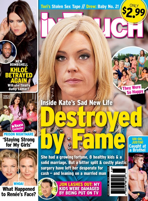 Kate Gosselin Broke And Hooking Up With Married Man After Spending All Her Money On Expensive Plastic Surgery