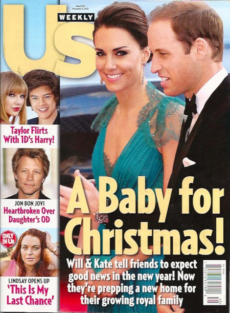 Kate Middleton and Prince William's Christmas Baby Announcement - Royal Babies and Lindsay Lohan's Orange Tan