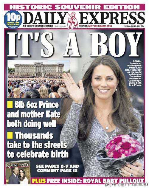 First Photos of Kate Middleton & Prince William With Royal Baby - Britain Rejoices!
