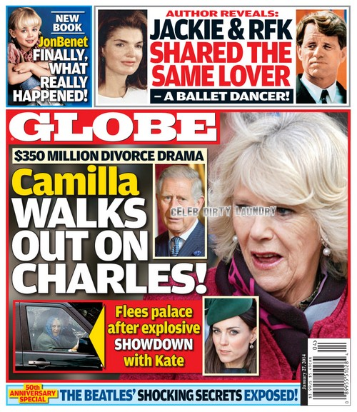 GLOBE: Kate Middleton and Camilla Parker-Bowles' Explosive Showdown Leads to Prince Charles $350 Million Divorce Drama (PHOTO)