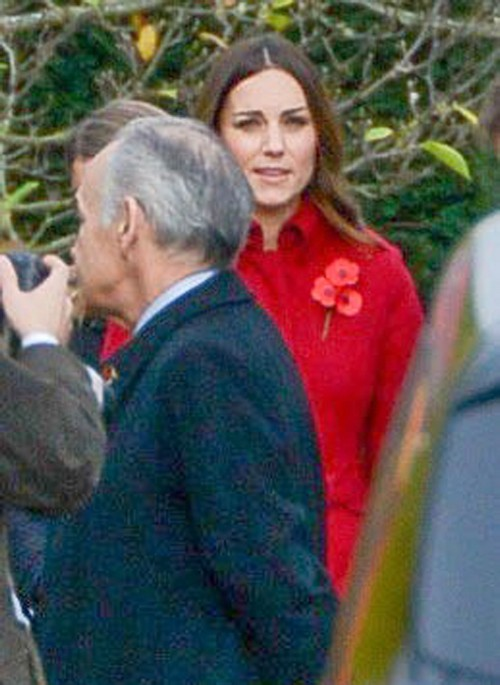 Kate Middleton Acts Dreamy and Distracted at Somber Veteran's Remembrance Day Ceremony: Postpartum Depression Medication?