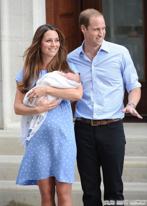 Kate Middelton and Prince William Bonding With Prince George At Bucklebury