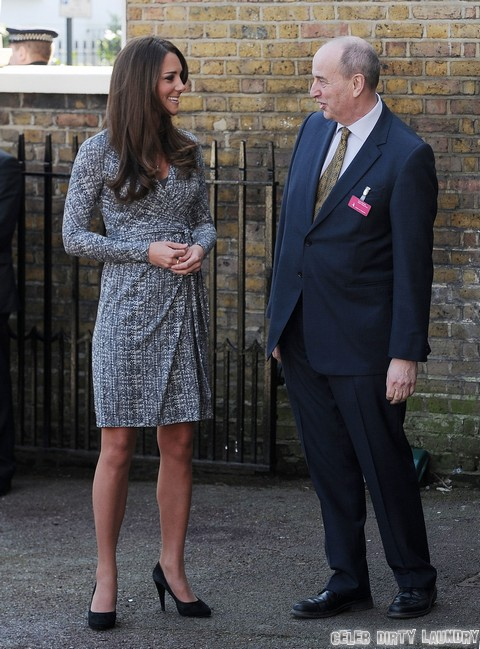 "Kate Middleton's Displays Baby Bump at Rehab Visit - ""Hard Work"" at Hope House (Photos)"