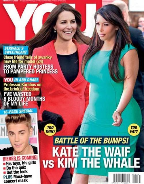 Kate Middleton, Kim Kardashian Baby Bumps Slammed By Tabloid - Too Harsh? 0510