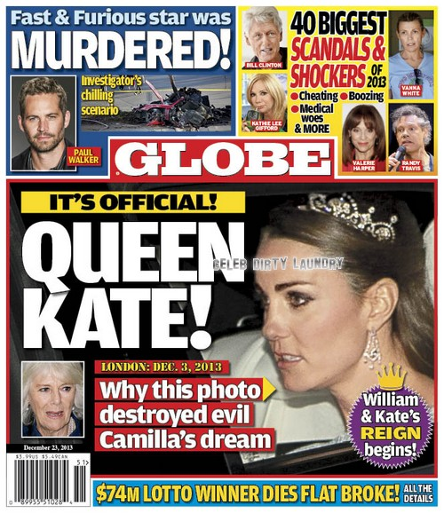 GLOBE: Queen Elizabeth Officially Picks Kate Middleton as Next Queen: Camilla Parker-Bowles' Evil Dream Ruined (PHOTO)