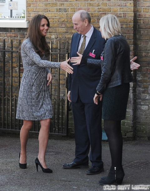Pregnant Kate Middleton Visits Hope House