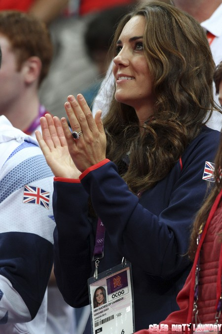 Kate Middleton Watching The Men's Pommel Horse At The Olympics