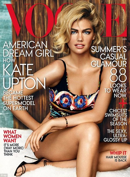 Kate Upton Vogue - Hurt And Embarrassed By Critics: Hits Back And Says She Can't Change Bra Size