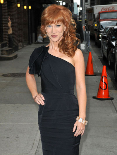 Kathy Griffin Doesn't Wear Underwear, Does An Awkward Striptease For David Letterman