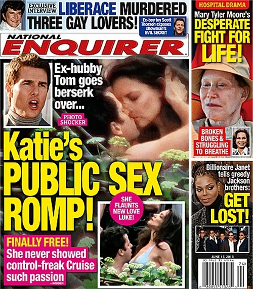 Tom Cruise Furious Over Katie Holmes' Sex Romp With Luke Kirby