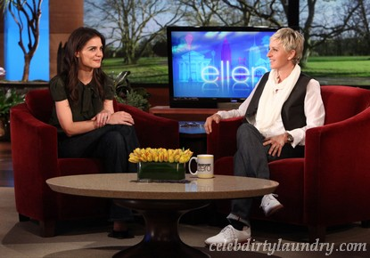 Katie Holmes Talks Penis Gummies With Ellen DeGeneres