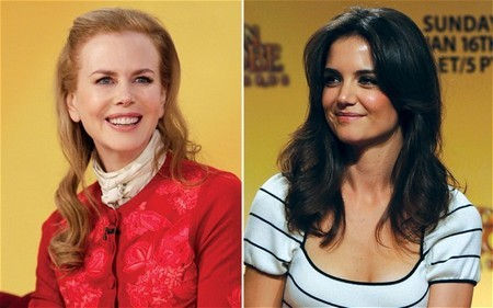 Tom Cruise Wives,Katie Holmes and Nicole Kidman