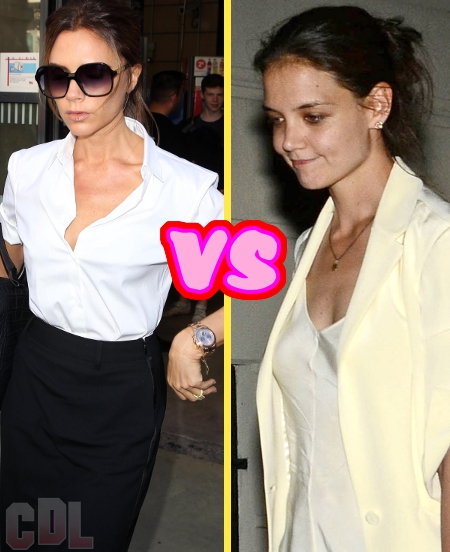 Katie Holmes and Victoria Beckham to have Feisty Catwalk Showdown at New York Fashion Week