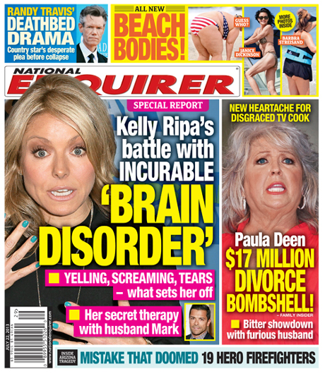 Kelly Ripa Battling Brain Disorder That Sends Her Into Rages - Report