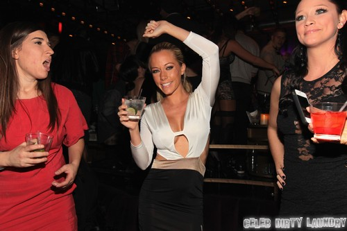 Kendra Wilkinson's Boobs On Display, Might As Well Be Topless at OK! Magazine Pre-Oscar Party (Video)
