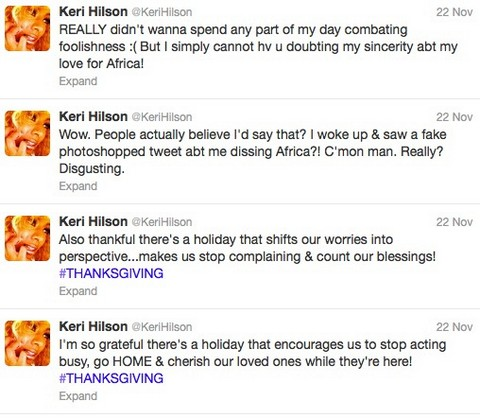 Keri Hilson Disses Africa While In Ghana And Gets Punished On Twitter
