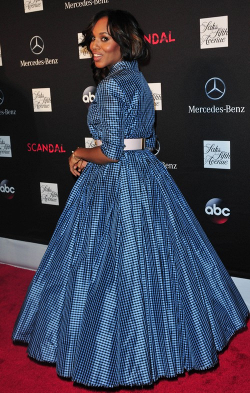Kerry Washington PREGNANT: Shows Up At Scandal Premiere Party With a Baby Bump! (PHOTOS)
