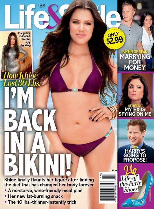 Khloe Kardashian Dons A Bikini For Life & Style Cover (Photo)