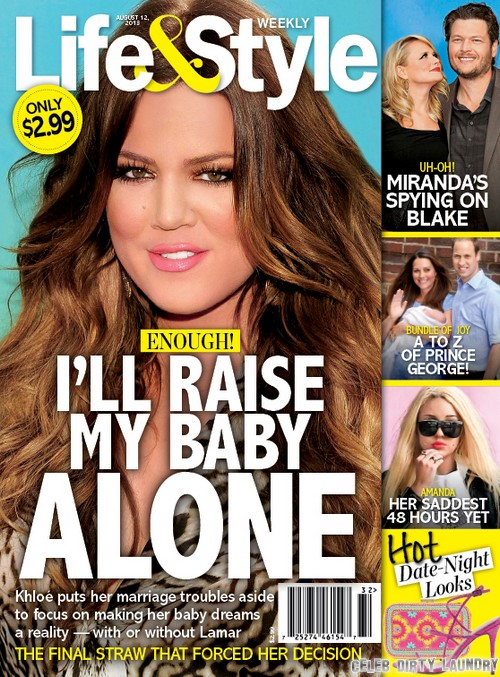 Khloe Kardashian To Raise Baby Alone: Single Mother After Separation and Divorce From Lamar Odom (Photo)