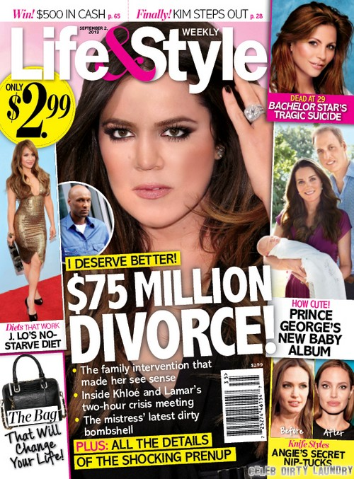 Khloe Kardashian and Lamar Odom Divorce: Lawyers Battle Over Cheating Clause in Prenup - $75 Million at Stake (PHOTO)