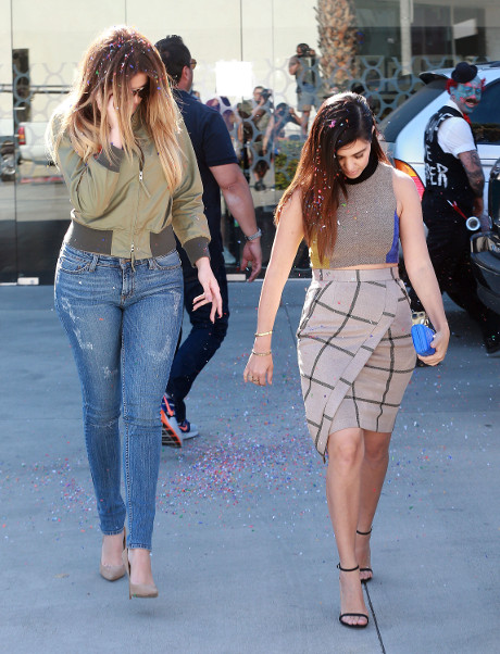Khloe and Kourtney Kardashian Attacked Filming KUWTK: Confetti Bomber Arrested (PHOTOS)