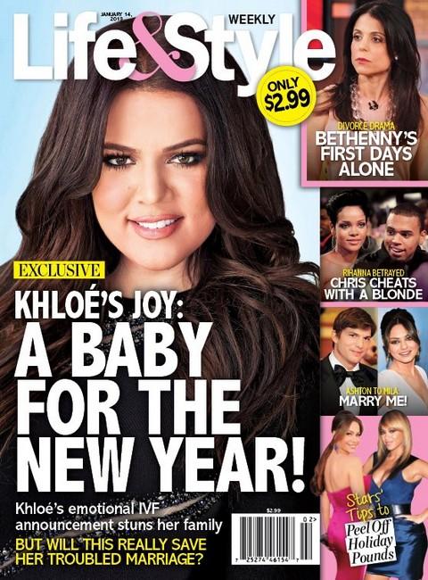 Khloe Kardashian Pregnant Via IVF - Baby Will Be Born In 2013