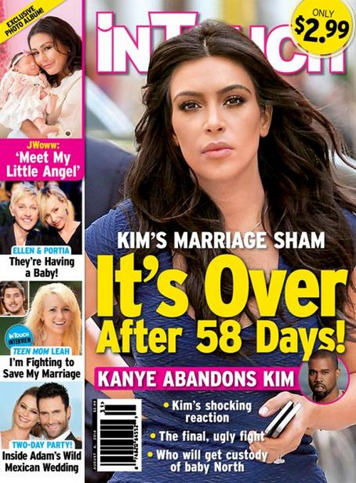 Kim Kardashian Divorce: Kanye West Moves Out - North West Custody Fight - Marriage in Shambles (PHOTO)