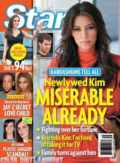 Star Magazine: Newlywed Kim Kardashian Miserable Already - Photo