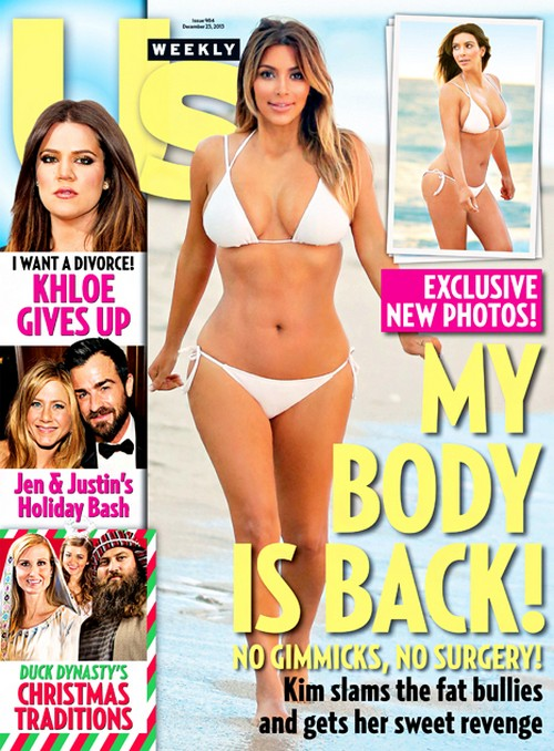 Kim Kardashian's Fake Photoshopped Us Weekly Cover: Wants Us To Think That She's Bikini Ready (PHOTO)