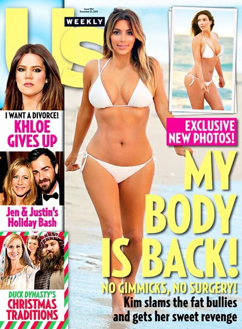 Kim Kardashian's Fake Photoshopped Us Weekly Cover: Wants Us To Think That She's Bikini Ready (PHOTO)