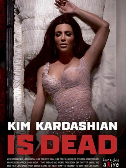 Kim Kardashian Is Dead In A Coffin For Charity