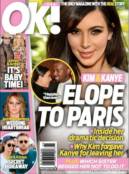 Kim Kardashian & Kanye West To Elope In Paris? (Photo)