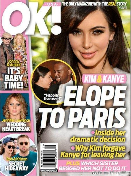 Kim Kardashian & Kanye West To Elope In Paris? (Photo)