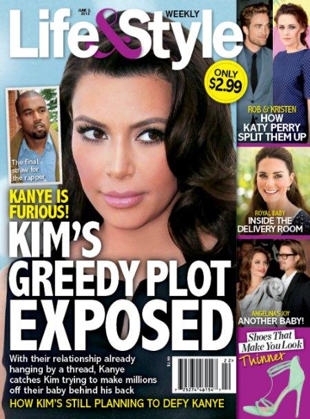 Kim Kardashian Profiting From Kanye West's Baby Behind His Back! (Photo)