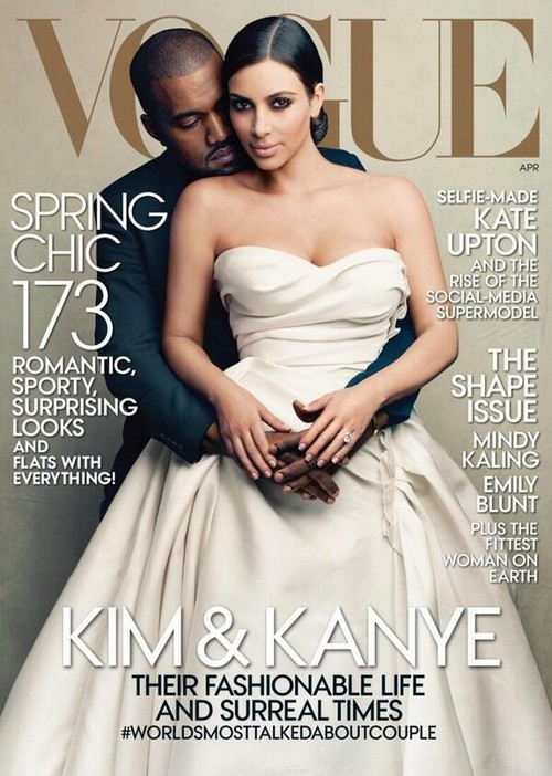 Kim Kardashian Vogue Cover With Kanye West - April 2014 (PHOTO)