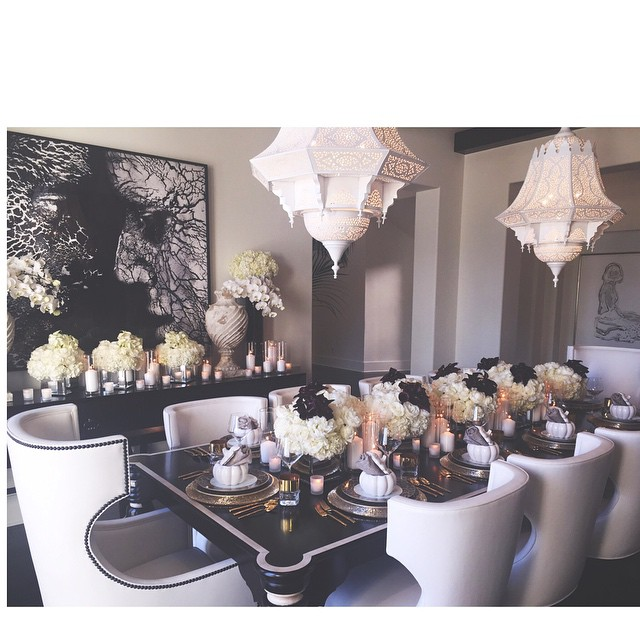 Kris Kardashian Dining Room Chairs