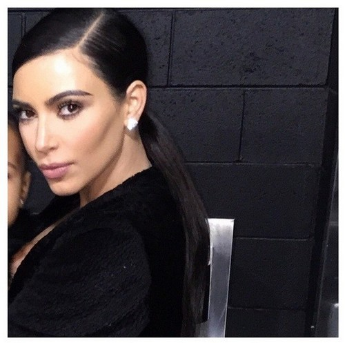 Kim Kardashian Crops North West Out Of Instagram Picture: Selfish Narcissist (PHOTO)