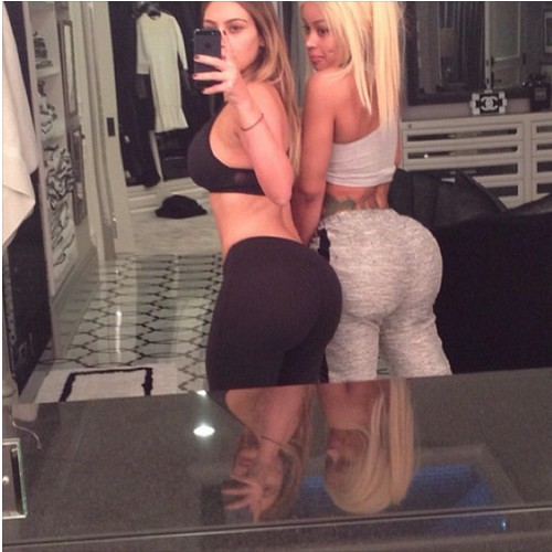 Kim Kardashian and Blac Chyna Breast and Butt Selfie Pics on Instagram (Photos)