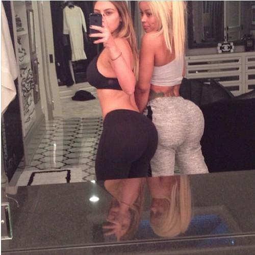 Kim Kardashian and Blac Chyna Breast and Butt Selfie Pics on Instagram (Photos)