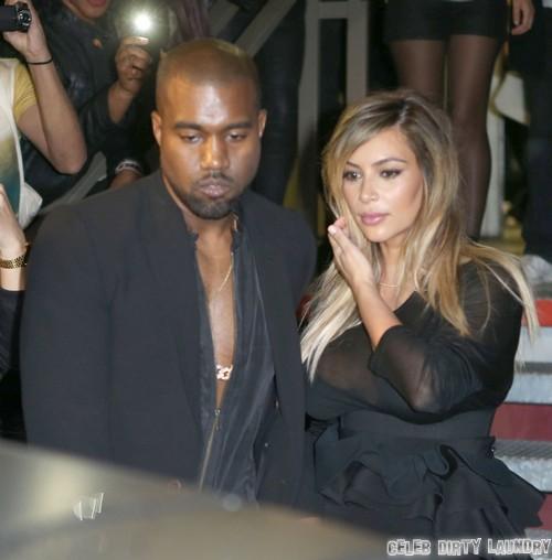 Kim & Kanye Leaving The Givency Fashion Show