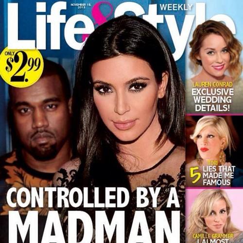 "Kim Kardashian Controlled By ""Madman"" Kanye West: Is Kim In Danger? (PHOTO)"