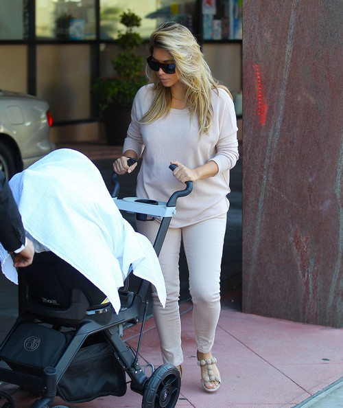 Kim Kardashian Uncovered and Looking Miserable Takes North West To The Doctor - Kanye and Father Ray Tag Along (PHOTOS)
