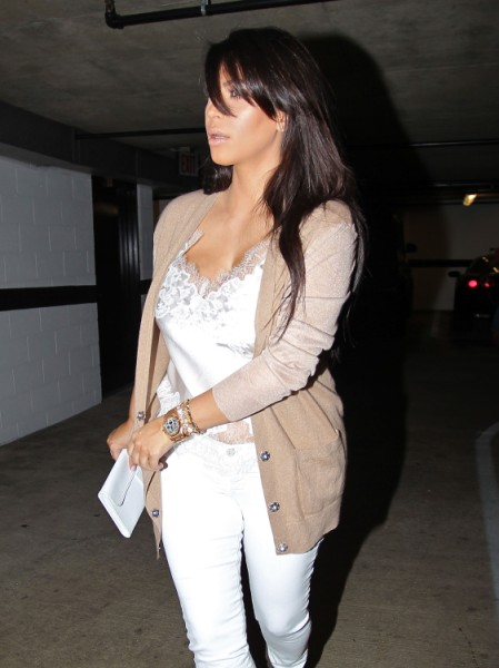Is Kim Kardashian's Pregnancy Fake - Baby Bump Seems To Come and Go (Photo)